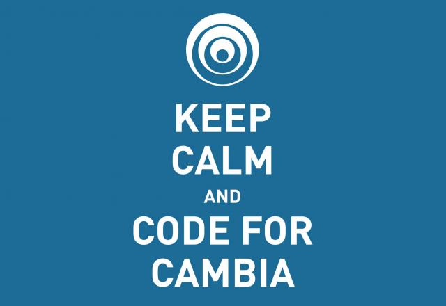 Keep Calm and Code for Cambia banner