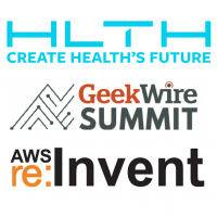 HLTH VRTL, GeekWire Summit, AWS re:Invent