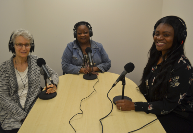 Dr. Jill Ginsberg, Sharetta Butcher and Kilaa Slaughter-Scott